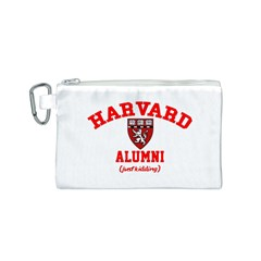 Harvard Alumni Just Kidding Canvas Cosmetic Bag (s)