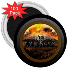 World Of Tanks Wot 3  Magnets (100 Pack)
