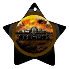 World Of Tanks Wot Star Ornament (two Sides)