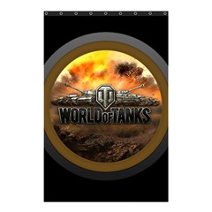 World Of Tanks Wot Shower Curtain 48  X 72  (small)