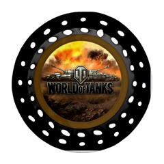 World Of Tanks Wot Round Filigree Ornament (two Sides)