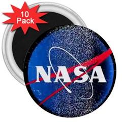 Nasa Logo 3  Magnets (10 Pack)