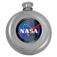 Nasa Logo Round Hip Flask (5 Oz)