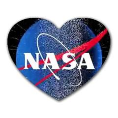 Nasa Logo Heart Mousepads