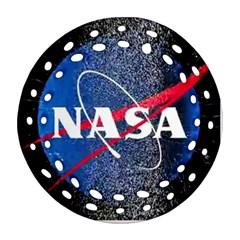 Nasa Logo Ornament (round Filigree)