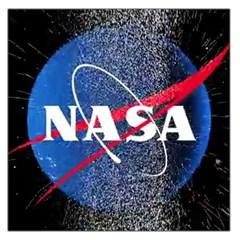 Nasa Logo Large Satin Scarf (square)
