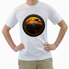 World Of Tanks Wot Men s T Shirt (white) (two Sided)