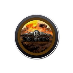 World Of Tanks Wot Rubber Round Coaster (4 Pack)