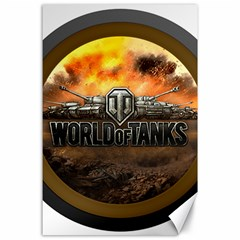 World Of Tanks Wot Canvas 24  X 36