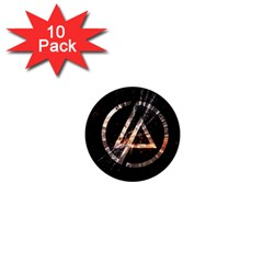 Linkin Park Logo Band Rock 1  Mini Buttons (10 Pack)