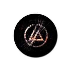 Linkin Park Logo Band Rock Rubber Round Coaster (4 Pack)
