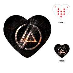 Linkin Park Logo Band Rock Playing Cards (heart)