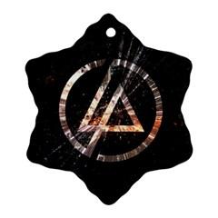 Linkin Park Logo Band Rock Ornament (snowflake)