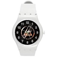 Linkin Park Logo Band Rock Round Plastic Sport Watch (m)