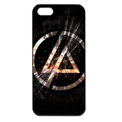 Linkin Park Logo Band Rock Apple Iphone 5 Seamless Case (black)