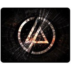 Linkin Park Logo Band Rock Double Sided Fleece Blanket (medium)