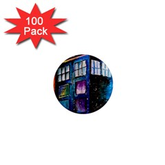 Dr Who Tardis Painting 1  Mini Magnets (100 Pack)