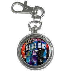 Dr Who Tardis Painting Key Chain Watches