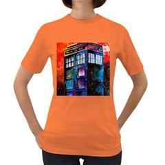 Dr Who Tardis Painting Women s Dark T Shirt