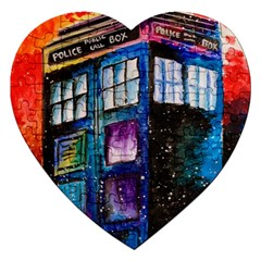 Dr Who Tardis Painting Jigsaw Puzzle (heart)