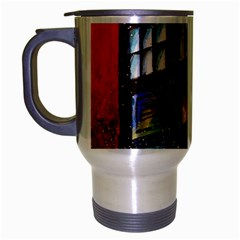 Dr Who Tardis Painting Travel Mug (silver Gray)