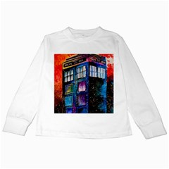 Dr Who Tardis Painting Kids Long Sleeve T Shirts