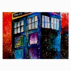 Dr Who Tardis Painting Large Glasses Cloth