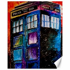 Dr Who Tardis Painting Canvas 11  X 14