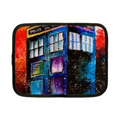 Dr Who Tardis Painting Netbook Case (small)