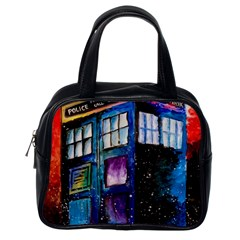 Dr Who Tardis Painting Classic Handbags (one Side)
