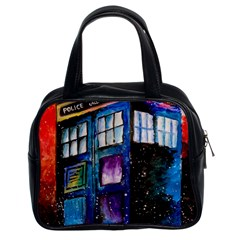 Dr Who Tardis Painting Classic Handbags (2 Sides)