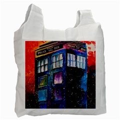 Dr Who Tardis Painting Recycle Bag (one Side)