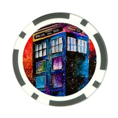 Dr Who Tardis Painting Poker Chip Card Guard (10 Pack)