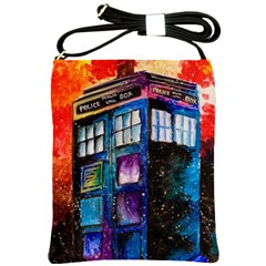 Dr Who Tardis Painting Shoulder Sling Bags