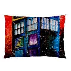 Dr Who Tardis Painting Pillow Case (two Sides)