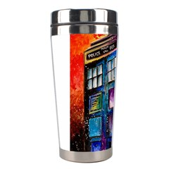 Dr Who Tardis Painting Stainless Steel Travel Tumblers