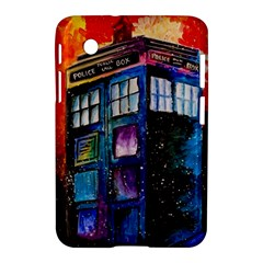 Dr Who Tardis Painting Samsung Galaxy Tab 2 (7 ) P3100 Hardshell Case