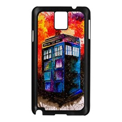 Dr Who Tardis Painting Samsung Galaxy Note 3 N9005 Case (black)