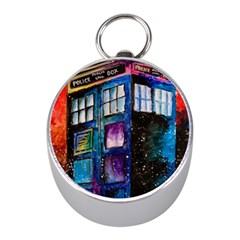 Dr Who Tardis Painting Mini Silver Compasses