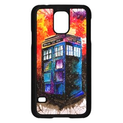 Dr Who Tardis Painting Samsung Galaxy S5 Case (black)