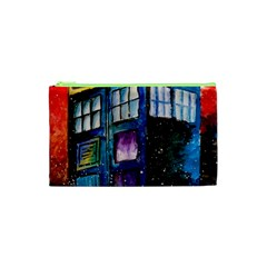 Dr Who Tardis Painting Cosmetic Bag (xs)