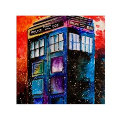 Dr Who Tardis Painting Small Satin Scarf (square)