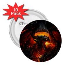 Dragon Legend Art Fire Digital Fantasy 2 25  Buttons (10 Pack)