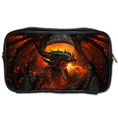 Dragon Legend Art Fire Digital Fantasy Toiletries Bags 2 Side