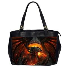 Dragon Legend Art Fire Digital Fantasy Office Handbags (2 Sides)