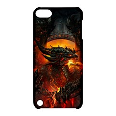 Dragon Legend Art Fire Digital Fantasy Apple Ipod Touch 5 Hardshell Case With Stand