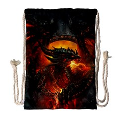 Dragon Legend Art Fire Digital Fantasy Drawstring Bag (large)