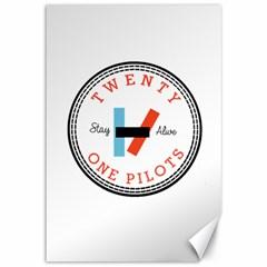 Twenty One Pilots Canvas 12  X 18