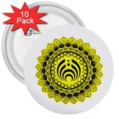 Bassnectar Sunflower 3  Buttons (10 Pack)