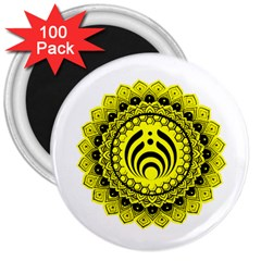 Bassnectar Sunflower 3  Magnets (100 Pack)